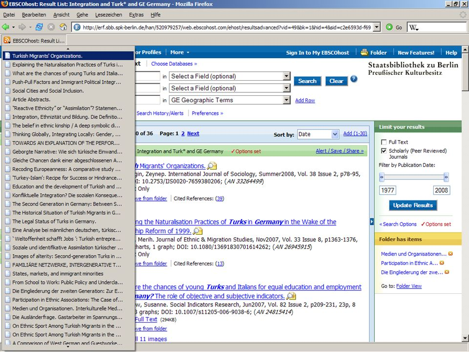Abt. Katalogsystem und Wissenschaftliche Dienste | Kaya Tasci | Oktober 2008S. 93