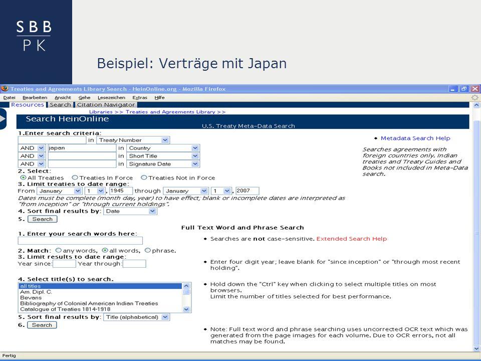 | Beispiel: Verträge mit Japan