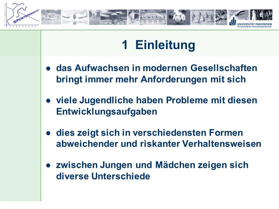 Dr. Stefan Hansen, Universität Paderborn, Fakultät für Naturwissenschaften, Department Sport & Gesundheit 1 Einleitung das Aufwachsen in modernen Gese