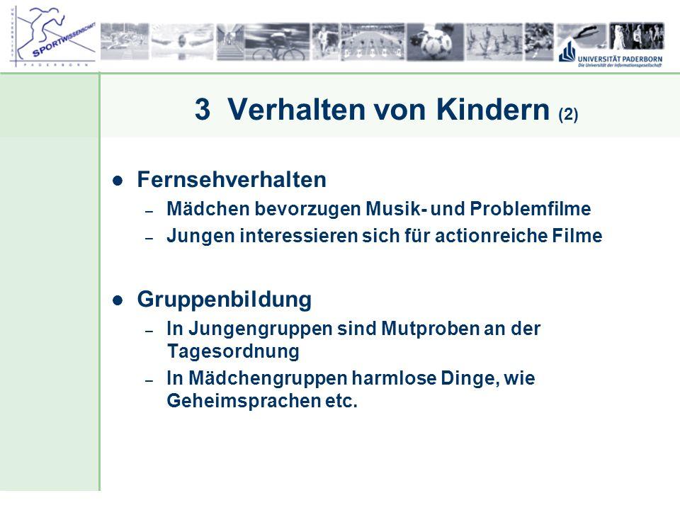 Dr. Stefan Hansen, Universität Paderborn, Fakultät für Naturwissenschaften, Department Sport & Gesundheit 3 Verhalten von Kindern (2) Fernsehverhalten