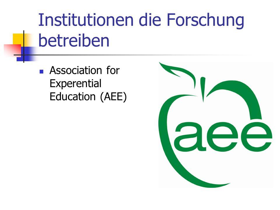 Institutionen die Forschung betreiben Association for Experential Education (AEE)