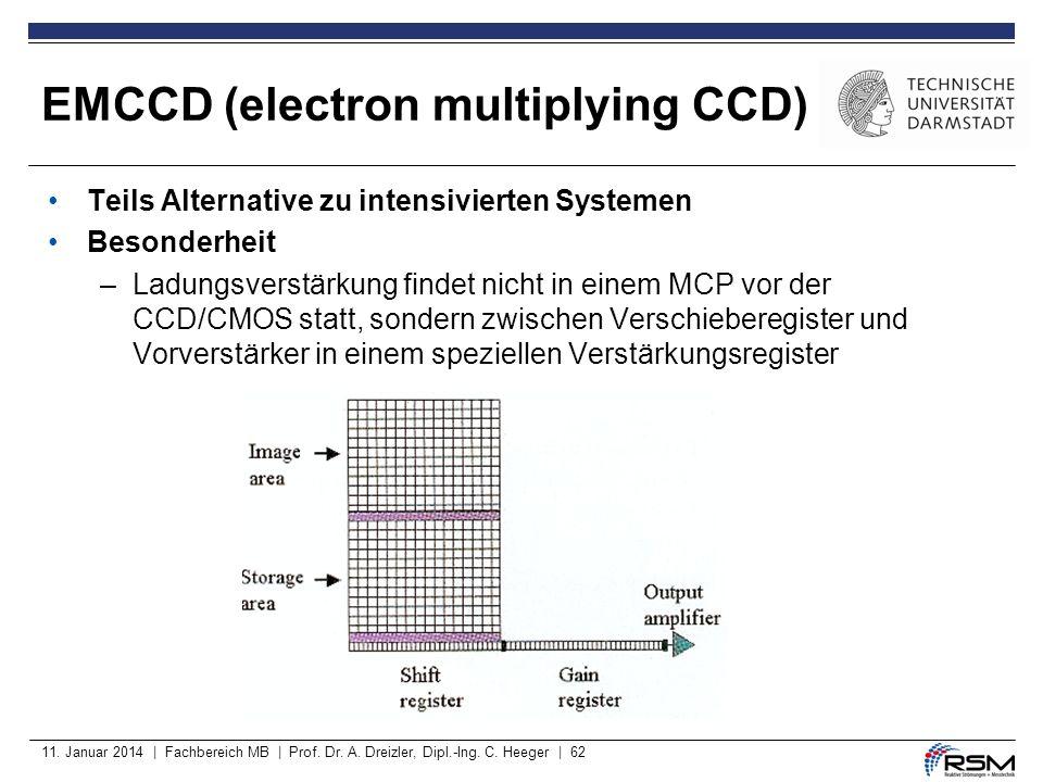11. Januar 2014 | Fachbereich MB | Prof. Dr. A. Dreizler, Dipl.-Ing. C. Heeger | 62 Teils Alternative zu intensivierten Systemen Besonderheit –Ladungs
