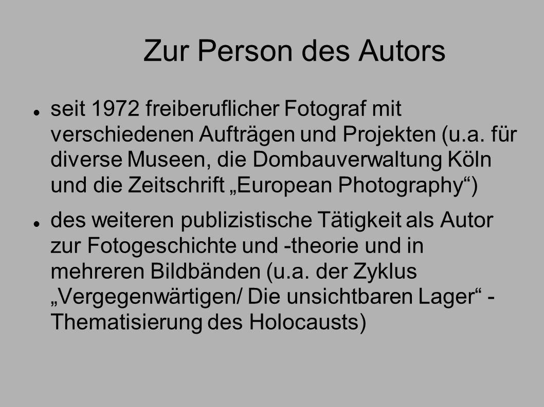 Zur Person des Autors seit 1972 freiberuflicher Fotograf mit verschiedenen Aufträgen und Projekten (u.a. für diverse Museen, die Dombauverwaltung Köln