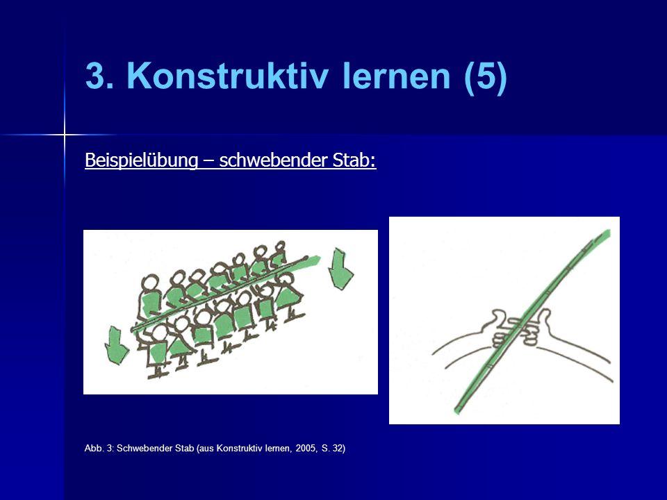 3.Konstruktiv lernen (5) Beispielübung – schwebender Stab: Abb.