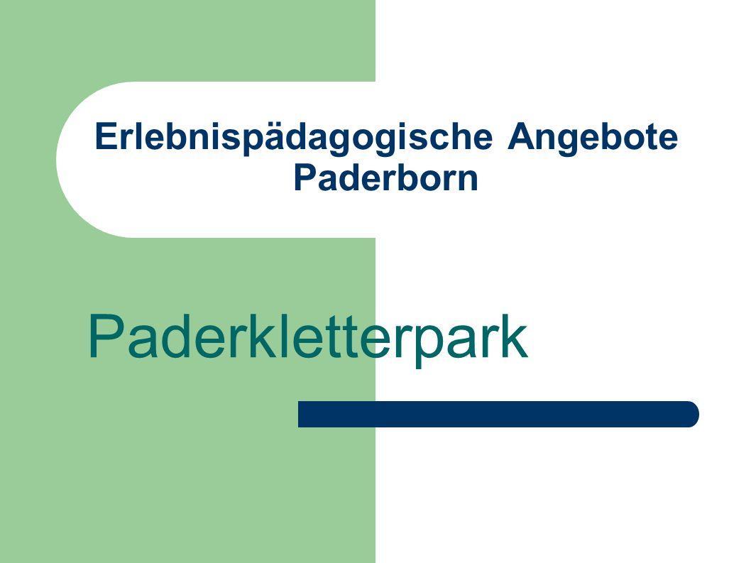 Erlebnispädagogische Angebote Paderborn Paderkletterpark