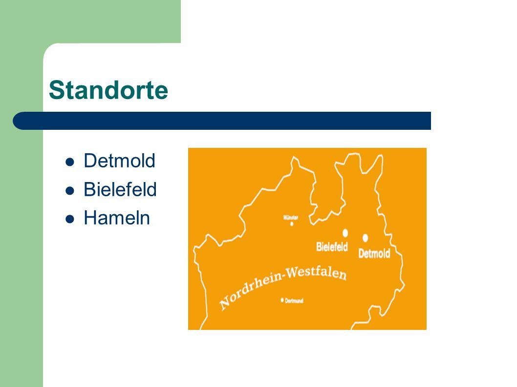 Standorte Detmold Bielefeld Hameln