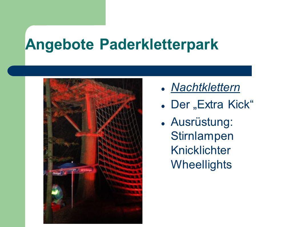 Angebote Paderkletterpark Nachtklettern Der Extra Kick Ausrüstung: Stirnlampen Knicklichter Wheellights