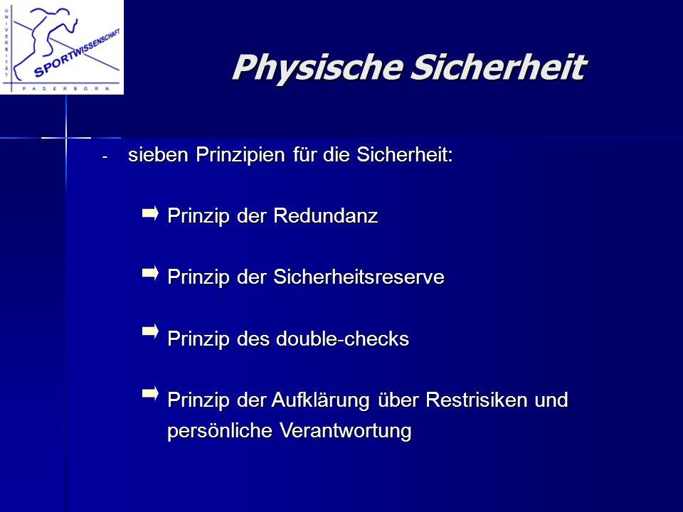 - sieben Prinzipien für die Sicherheit: Prinzip der Redundanz Prinzip der Redundanz Prinzip der Sicherheitsreserve Prinzip der Sicherheitsreserve Prin