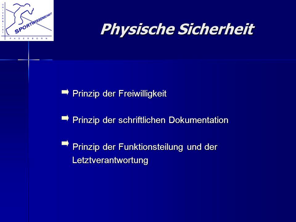 Prinzip der Freiwilligkeit Prinzip der Freiwilligkeit Prinzip der schriftlichen Dokumentation Prinzip der schriftlichen Dokumentation Prinzip der Funk