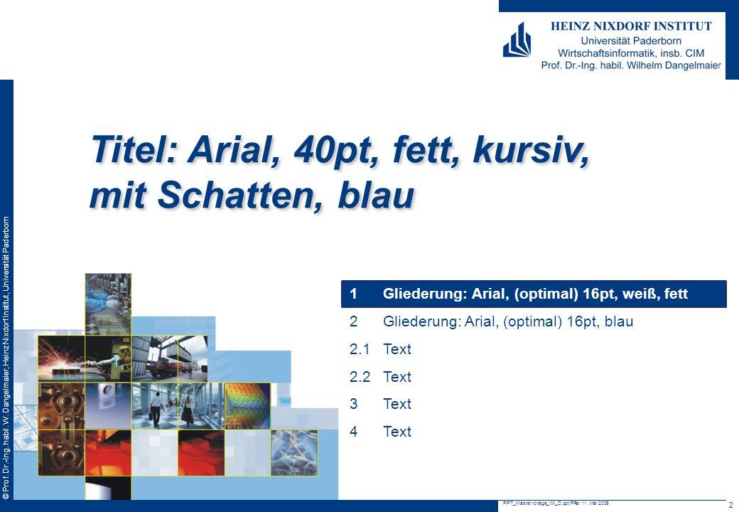 © Prof.Dr.-Ing. habil. W.