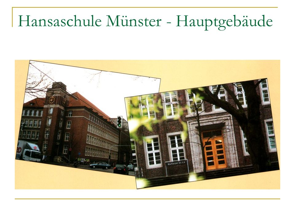 Hansaschule Münster - Hauptgebäude