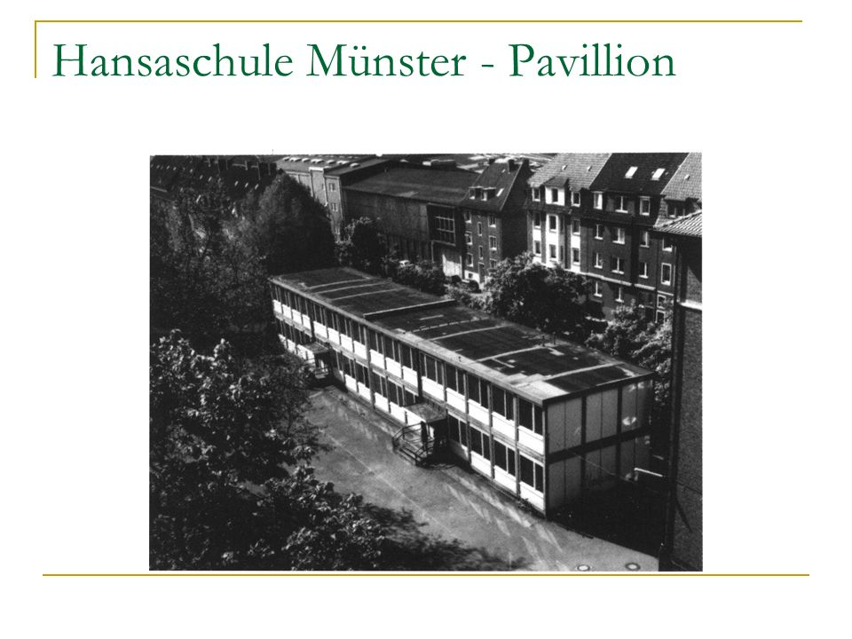 Hansaschule Münster - Pavillion
