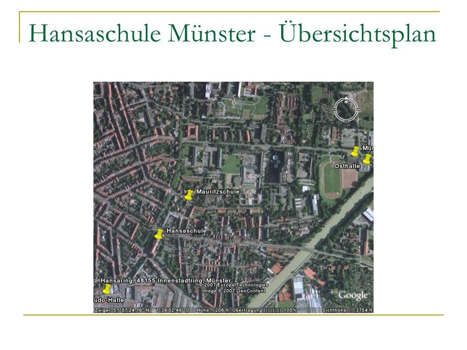 Hansaschule Münster - Übersichtsplan
