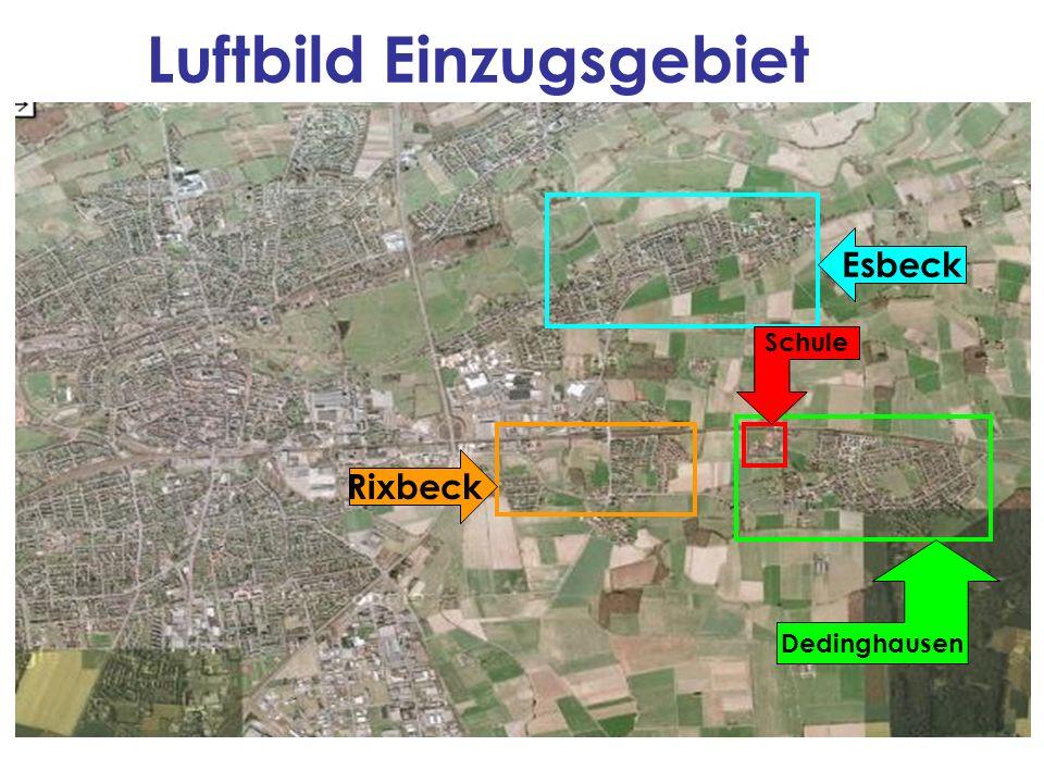 Luftbild Einzugsgebiet Esbeck Rixbeck Dedinghausen Schule