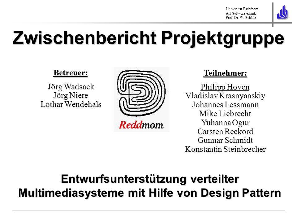 Universität Paderborn AG Softwaretechnik Prof. Dr. W. Schäfer Zwischenbericht Projektgruppe Teilnehmer: Philipp Hoven Vladislav Krasnyanskiy Johannes