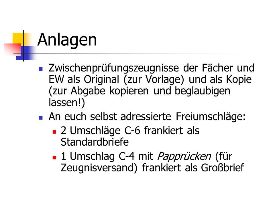 Anmeldung zur Prüfung (Deutsch) Klick! Klick