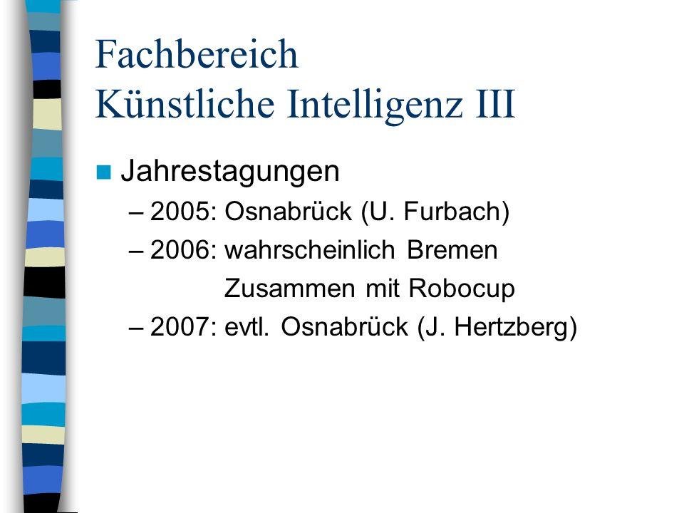 Fachbereich Künstliche Intelligenz II Finanzsituation: –Einnahmen – Ausgaben: -12.000,00 /Jahr –Momentan: Defizit: - 9.000,00 –Geplant: Beitragserhöhung: 24 -> 30-32