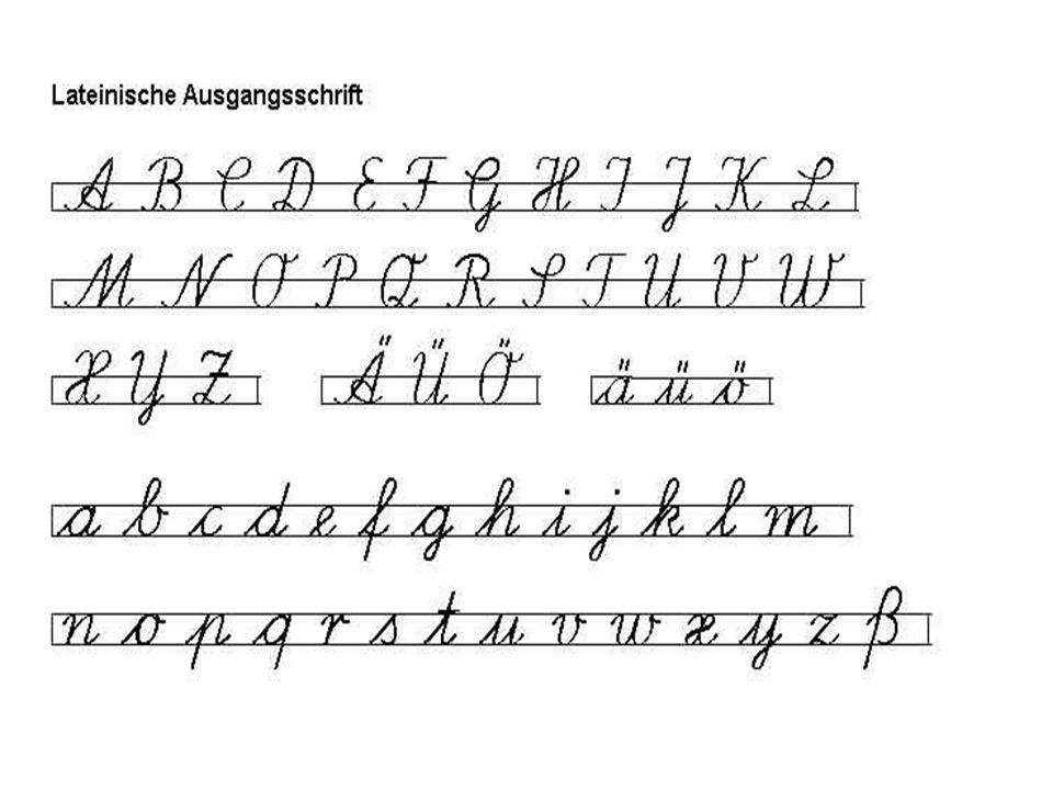 Methodische Aspekte des Handschreibunterrichts 1.Druckschrift als Ausgangsschrift Seit 1966 ist anerkannt, dass die Druckschrift eine geeignete Anfangsschrift ist.