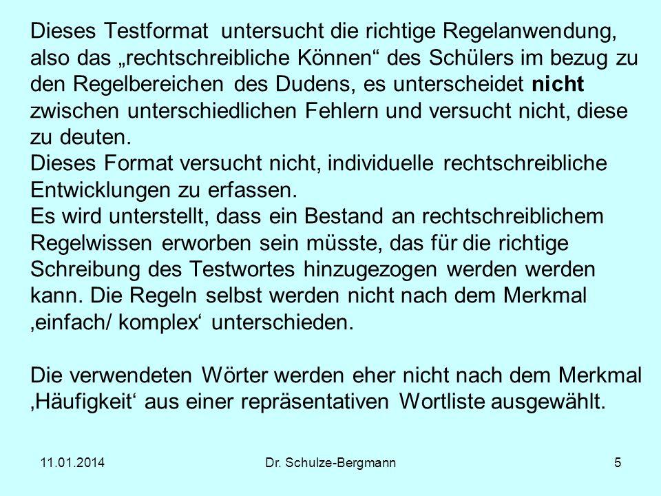 11.01.2014Dr.Schulze-Bergmann6 Der traditionelle RS-Test WRT4/5 von P.