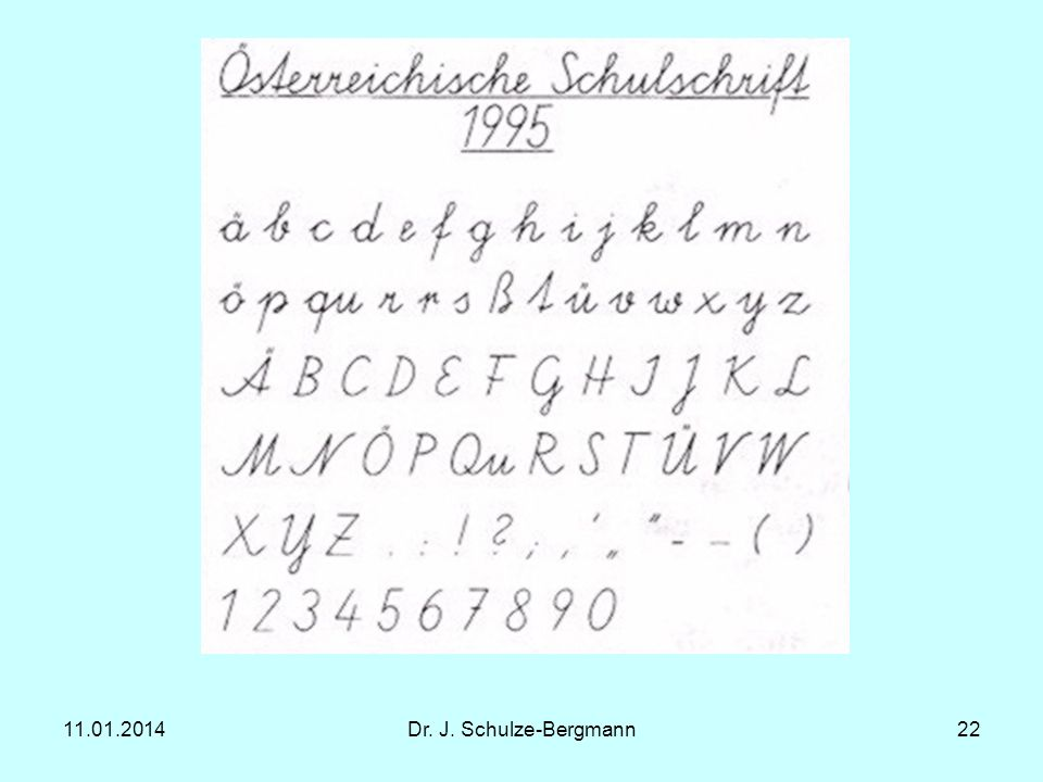 11.01.2014Dr. J. Schulze-Bergmann22