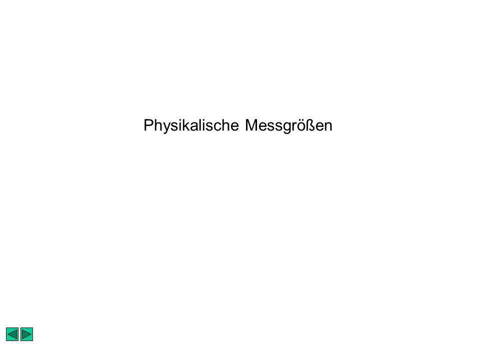Physikalische Messgrößen