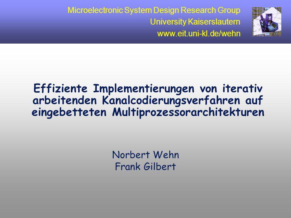 12 Bisherige Arbeiten Turbo-Codes System- ebene Algorithmen- ebene Iterations- kontrolle 3,4,6 Iterations- kontrolle 3,4,6 Speicher- optimierungen 2,6 Speicher- optimierungen 2,6 Shutdown- Mode 3,4 Shutdown- Mode 3,4 Voltage- Scheduling 3,4 Voltage- Scheduling 3,4 Performance- optimierter Code 5,7 Performance- optimierter Code 5,7 Loop-Merging 2 Renormalisierung 6 Loop-Merging 2 Renormalisierung 6 VLIW Prozessor 3,4,5,7 VLIW Prozessor 3,4,5,7 konfig.