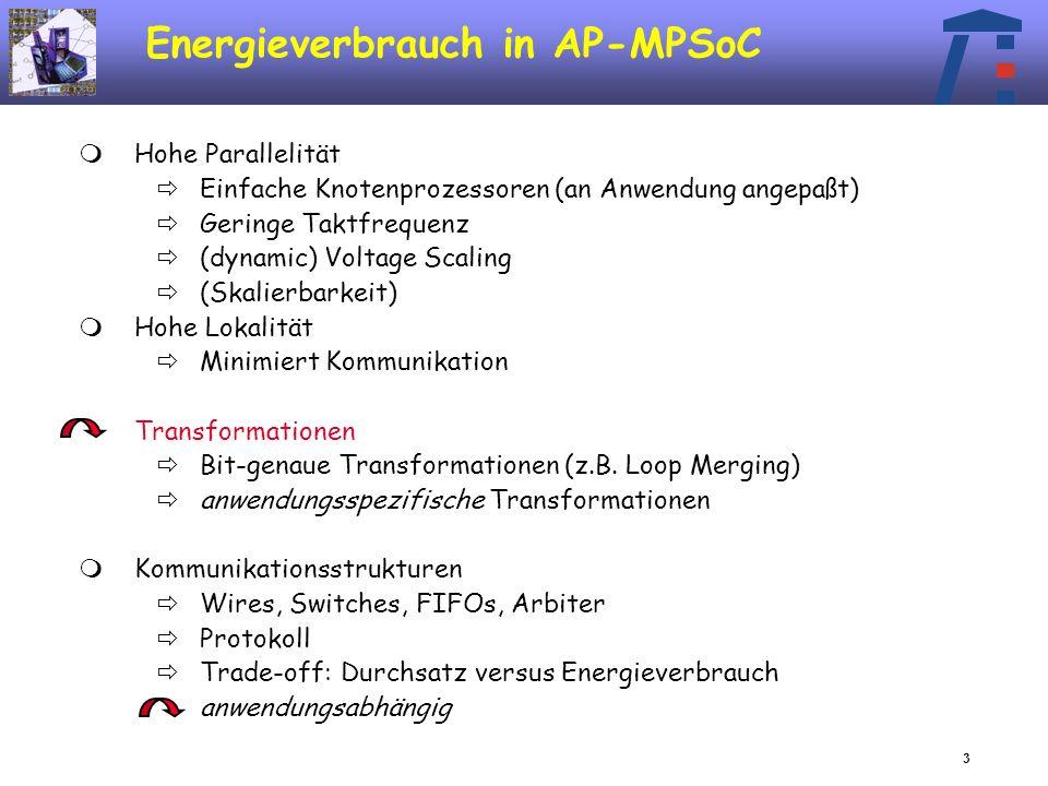 14 Arbeitsprogramm Zu betrachtetende Kommunikationsstrukturen Bus-basiert: AMBA AHB-Bus Arbitrierung, Split transactions, Burstlängen, Busbreiten, Bus- Splitting...