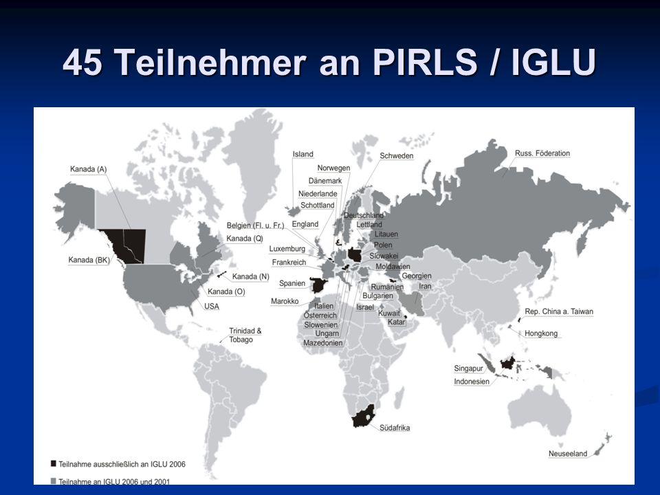 45 Teilnehmer an PIRLS / IGLU