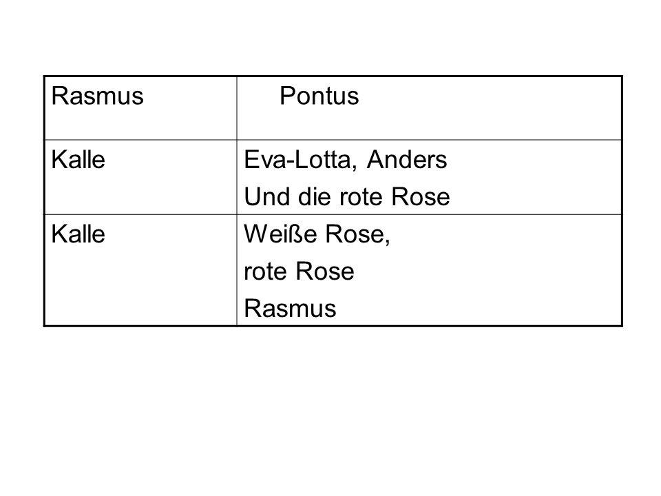 Rasmus Pontus KalleEva-Lotta, Anders Und die rote Rose KalleWeiße Rose, rote Rose Rasmus
