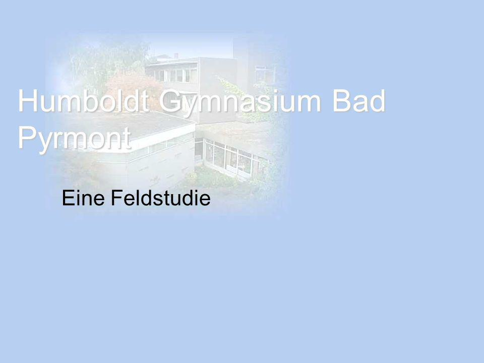 Humboldt Gymnasium Bad Pyrmont Eine Feldstudie