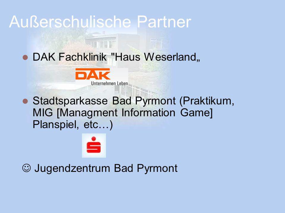 Außerschulische Partner DAK Fachklinik