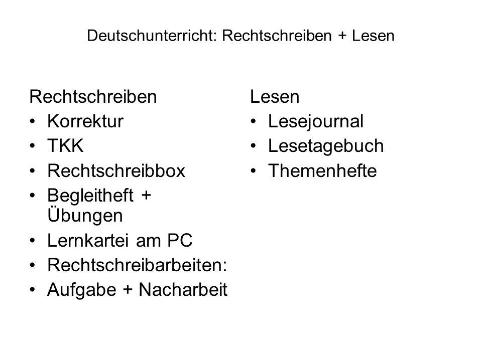 Deutschunterricht: Rechtschreiben + Lesen Rechtschreiben Korrektur TKK Rechtschreibbox Begleitheft + Übungen Lernkartei am PC Rechtschreibarbeiten: Au