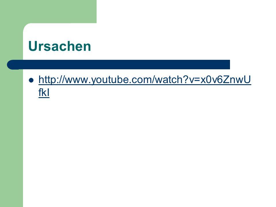 Ursachen http://www.youtube.com/watch?v=x0v6ZnwU fkI http://www.youtube.com/watch?v=x0v6ZnwU fkI