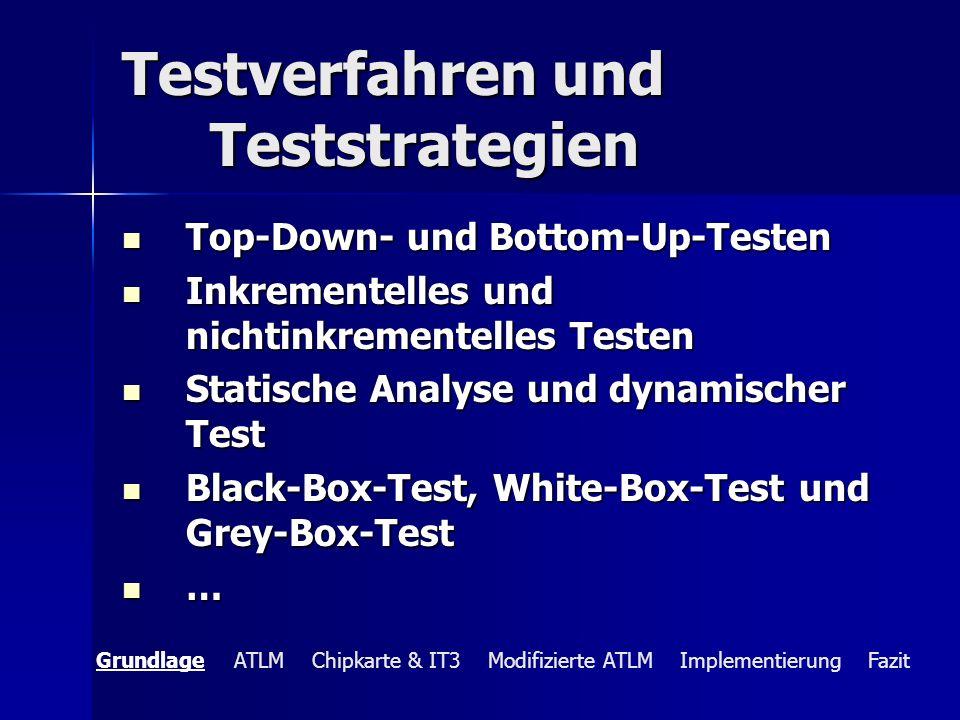 Testverfahren und Teststrategien Top-Down- und Bottom-Up-Testen Top-Down- und Bottom-Up-Testen Inkrementelles und nichtinkrementelles Testen Inkrement