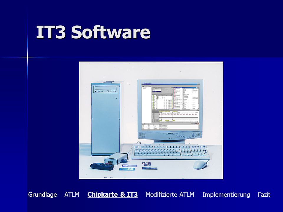 IT3 Software Grundlage ATLM Chipkarte & IT3 Modifizierte ATLM Implementierung Fazit