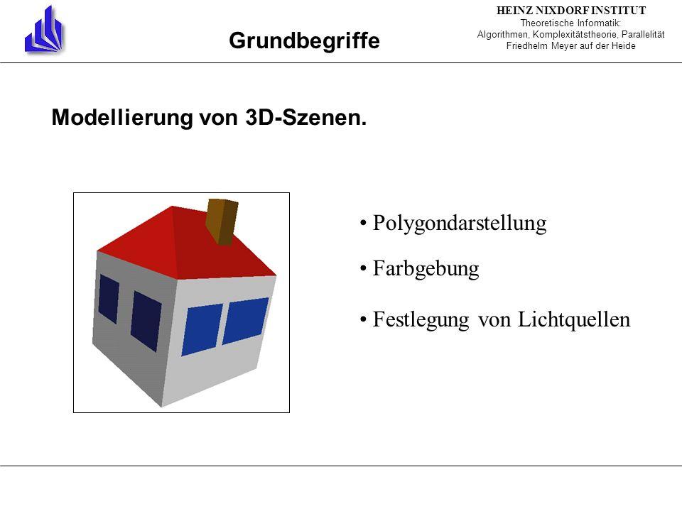 Grundbegriffe Modellierung von 3D-Szenen.