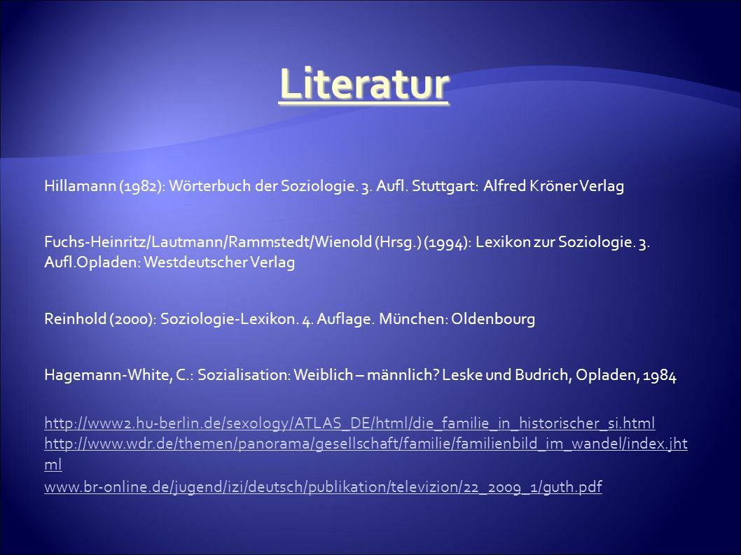 Hillamann (1982): Wörterbuch der Soziologie. 3. Aufl.