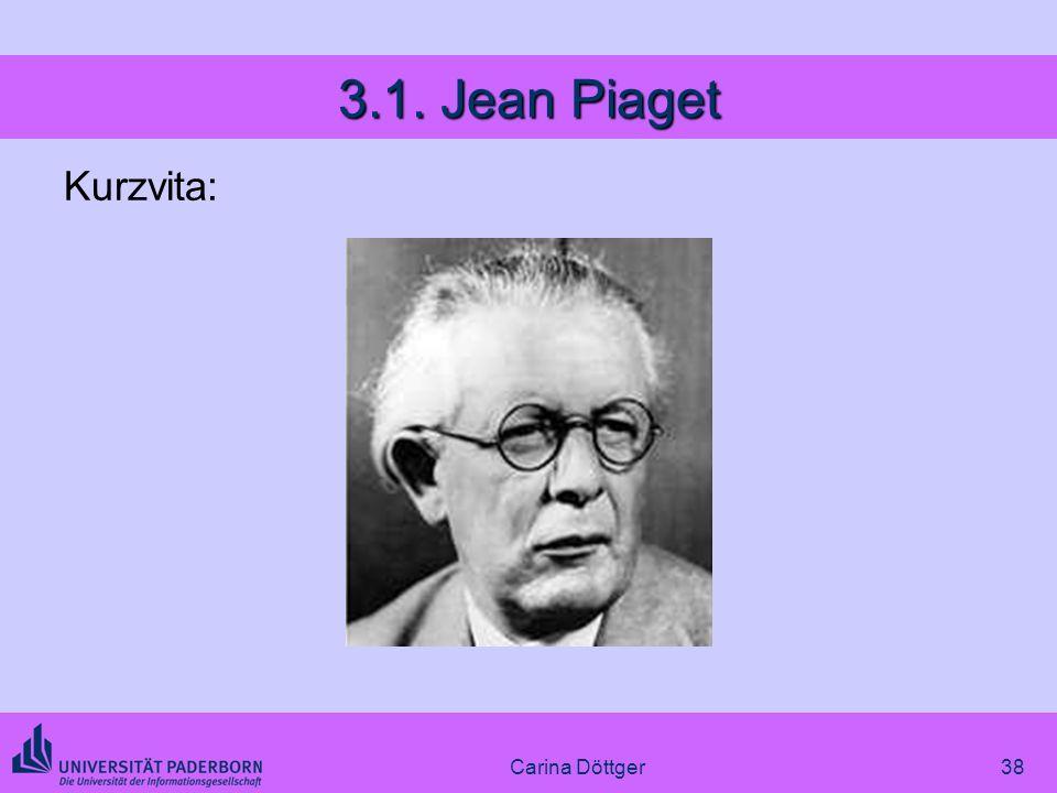 38 3.1. Jean Piaget Kurzvita: Carina Döttger