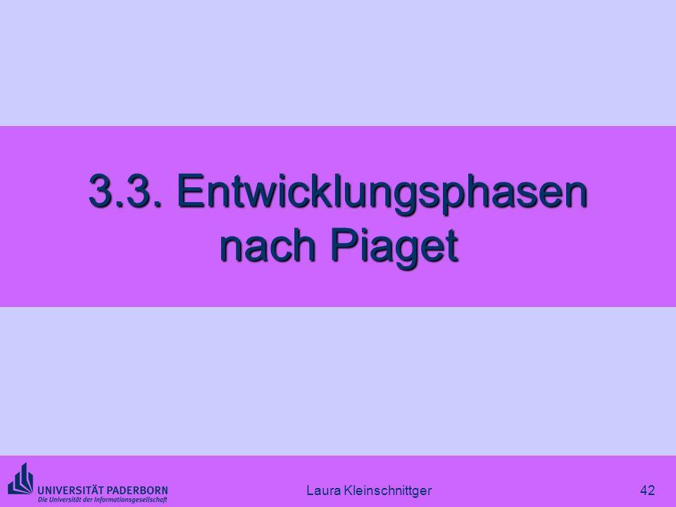 Laura Kleinschnittger42 3.3. Entwicklungsphasen nach Piaget