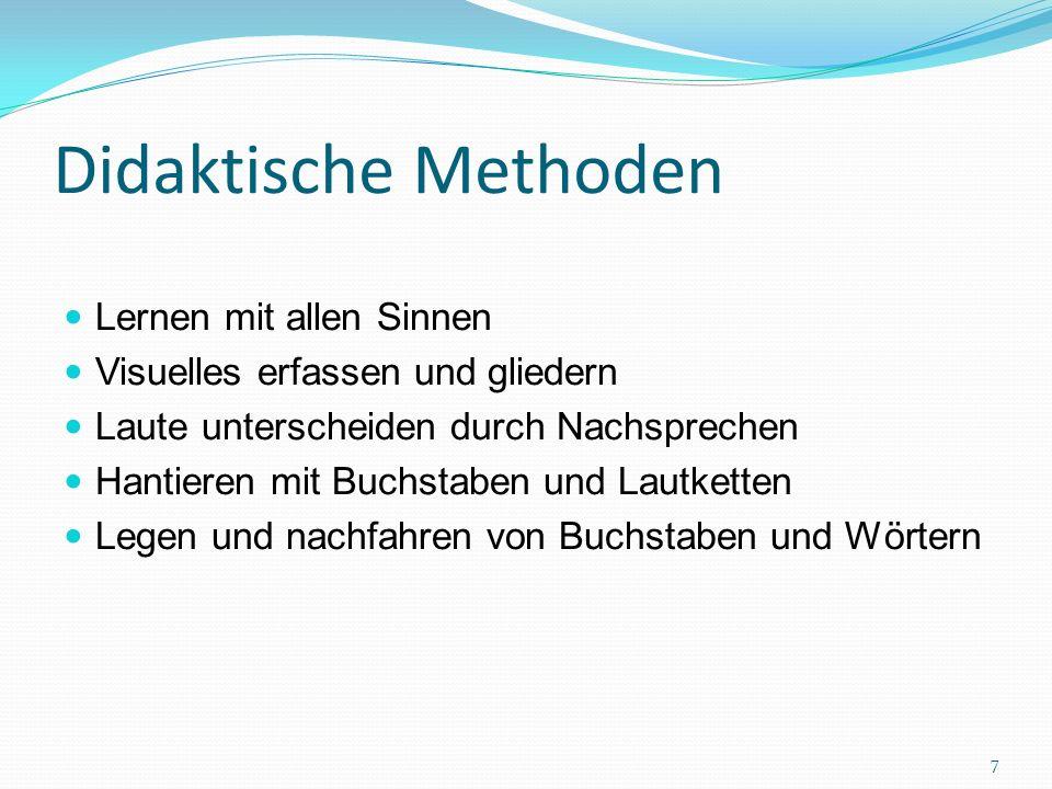 Schreibentwicklungsmodell nach Gudrun Spitta 6 Phasen (zwischen 2. und 8./9. Lebensjahr) 8