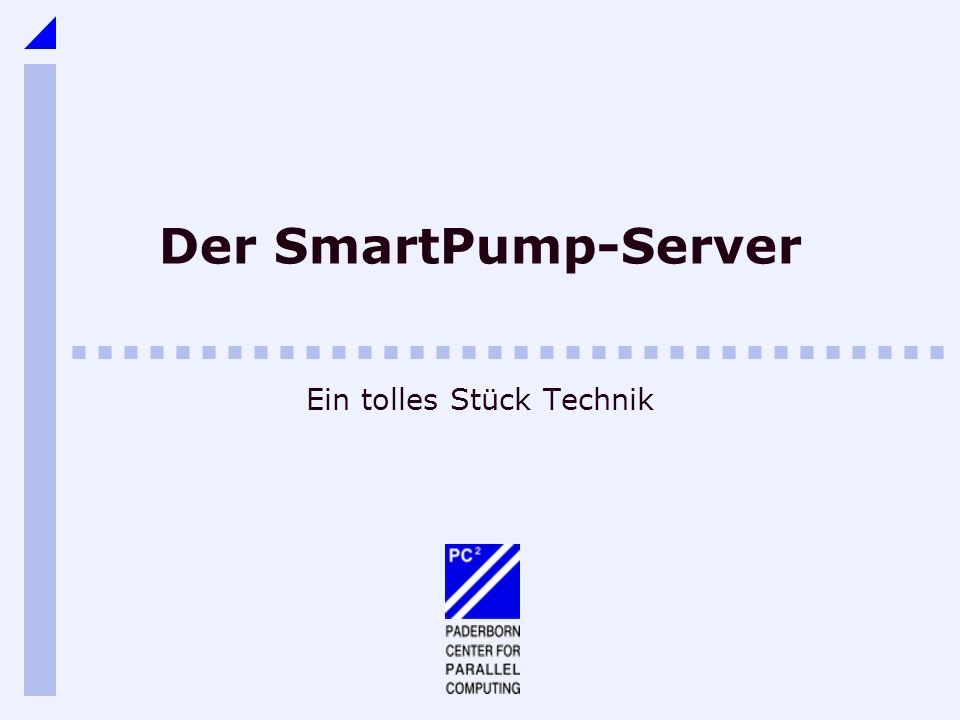 12Der SmartPump Server Methoden: describe Liefert Daten über Session Bitrate Sendet Daten über session description protocol