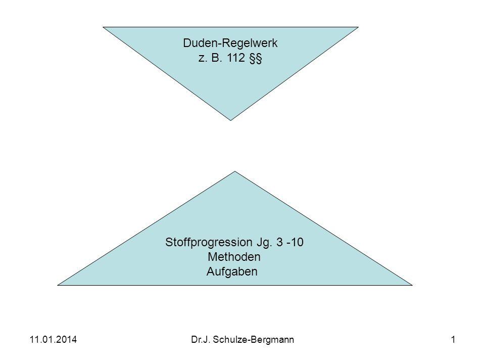 11.01.2014Dr.J.Schulze-Bergmann12 Kontextbezogene Rechtschreibung Jg.
