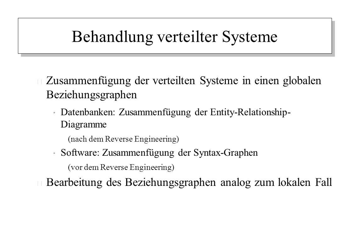 Behandlung verteilter Systeme – Zusammenfügung der verteilten Systeme in einen globalen Beziehungsgraphen