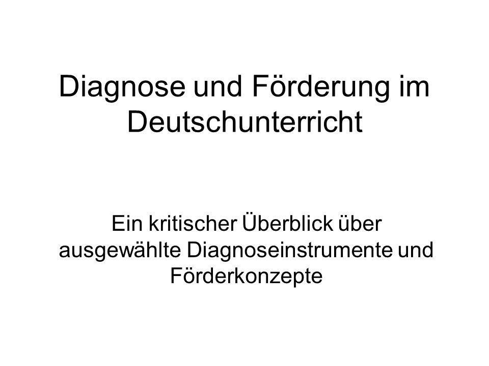 Schlussfolgerungen Der Einsatz eines Testverfahrens reicht für die Diagnostik nicht aus.