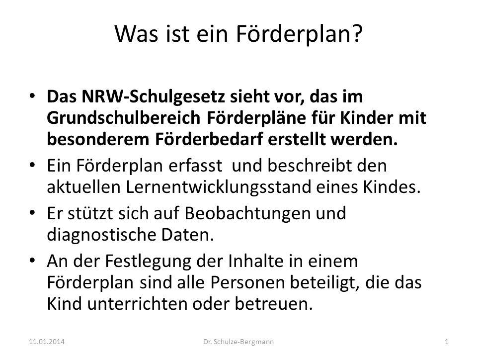 Was ist ein Förderplan? Das NRW-Schulgesetz sieht vor, das im Grundschulbereich Förderpläne für Kinder mit besonderem Förderbedarf erstellt werden. Ei