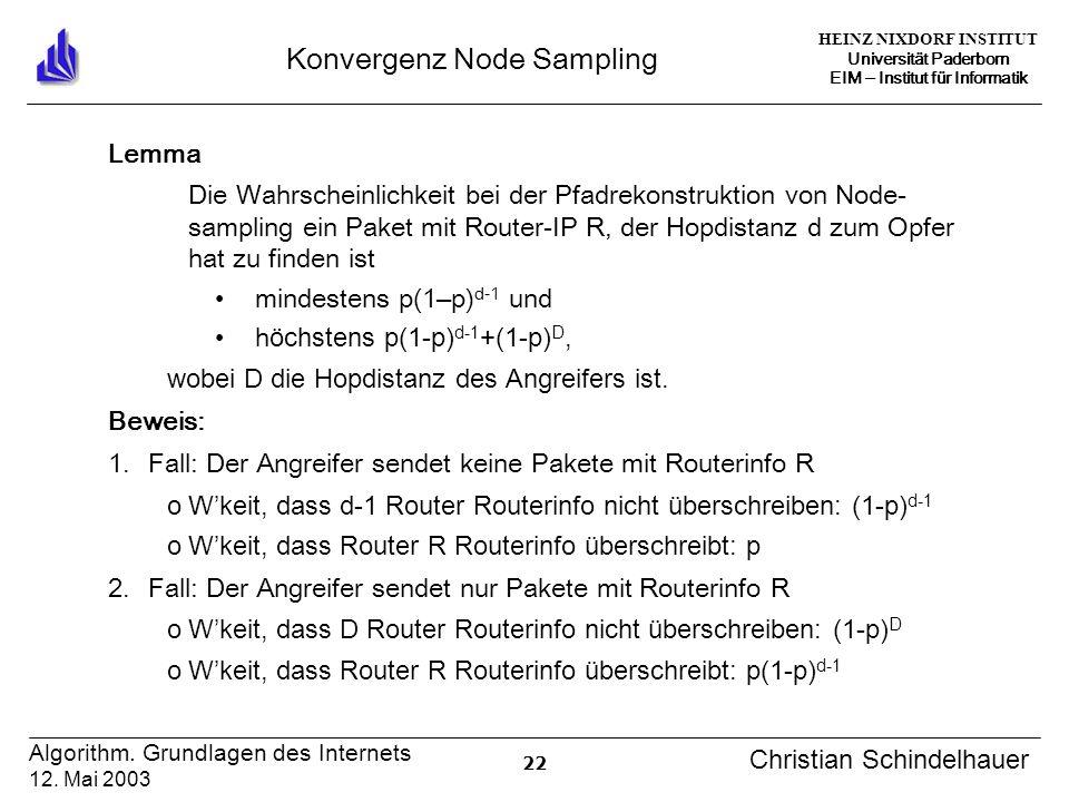 HEINZ NIXDORF INSTITUT Universität Paderborn EIM Institut für Informatik 22 Algorithm.