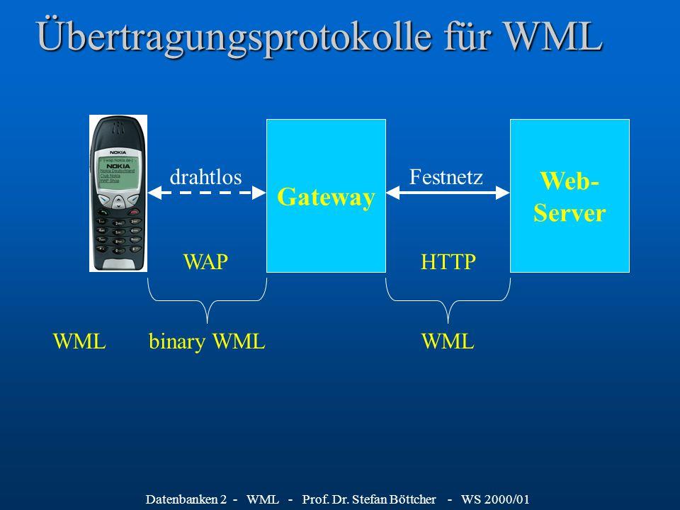 Datenbanken 2 - WML - Prof.Dr.