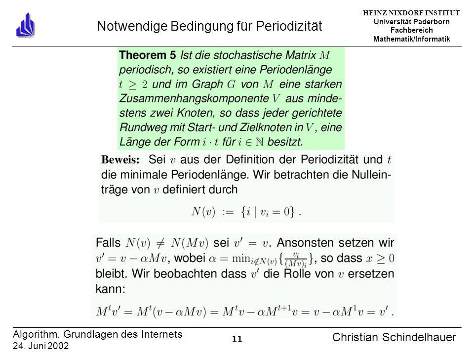 HEINZ NIXDORF INSTITUT Universität Paderborn Fachbereich Mathematik/Informatik 11 Algorithm.