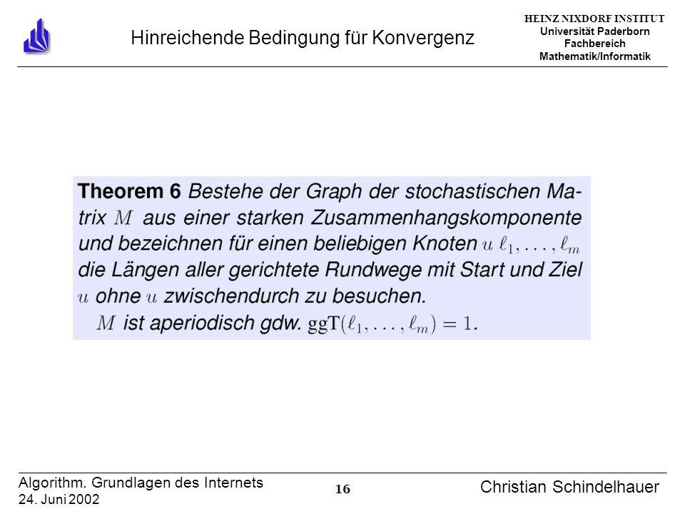 HEINZ NIXDORF INSTITUT Universität Paderborn Fachbereich Mathematik/Informatik 16 Algorithm.