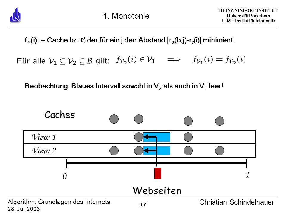 HEINZ NIXDORF INSTITUT Universität Paderborn EIM Institut für Informatik 17 Algorithm.